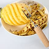 Katoot@ Stainless Steel V Shape Pineapple Peeler Fruit Knife Cutter Corer Slicer Cutter Kitchen Accessories