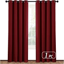 NICETOWN Burgundy Curtains for Living Room - (Burgundy Red) Home Decor Energy Smart Thermal Insulated Window Treatment Drape/Drapery for Patio Door, 52x84 Inch,1 Piece