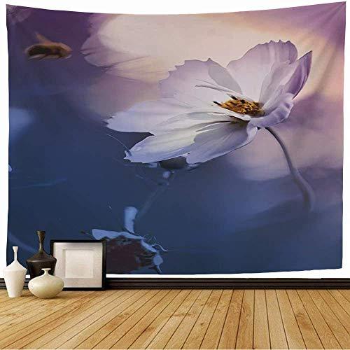 Arazzo da appendere a parete Blossom Veronica Giardino Fiori che sbocciano selvaggi Natura Primavera Albero Flora Foglia Petalo Floreale Rosa Blu Arazzo vintage per camera da letto Casa Dormitorio