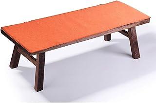 Cojín largo para banco de jardín, cojín para asiento de banco, alfombrilla de repuesto con lazo para sofá de viaje, tumbona interior, 2 3 plazas (naranja, 150 x 45 x 2 cm)
