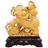 Feng Shui Statue Ornament Elefant Reichtum Harz Figur Skulptur Charme des Wohlstands Home Office Decor Geschenk