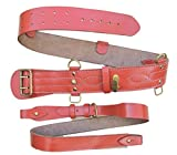 Photo de Ceinture Sam Browne Dusty Orange + bandoulière croisée en laiton Sam Brown R1993 - Marron - Taille unique