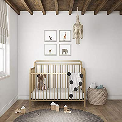 Baby Relax Juniper 4-in-1 Juniper Elegant Island Metal Crib, Champagne Gold