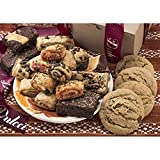 Dulcet Gift Baskets Classic Bakery Kraft Box Filled with soft bite Cookies, Chocolate Fudge Brownies...