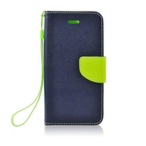 """Stylisches Bookstyle Handytasche Flip Case für \""""Huawei Y511\"""" Handy Schutz Hülle Etui Schale Cover Book Case blau-grün"""