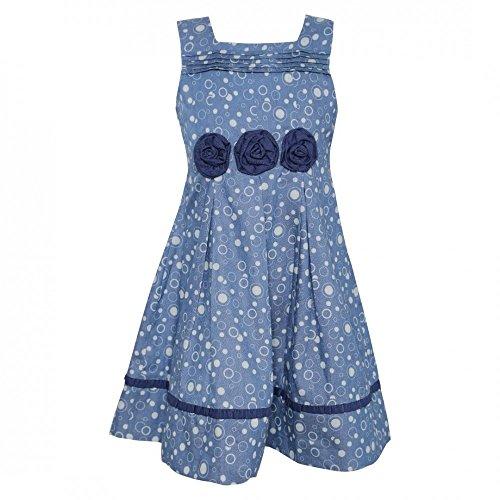 La-V Festliches Mädchenkleid Taubenblau/Größe 134