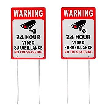 video surveillance yard sign