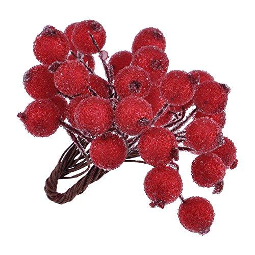 Mini Weihnachten Dekoration Künstliche Frucht Beere Holly Blumen Wie Echt 6 Farben Rot