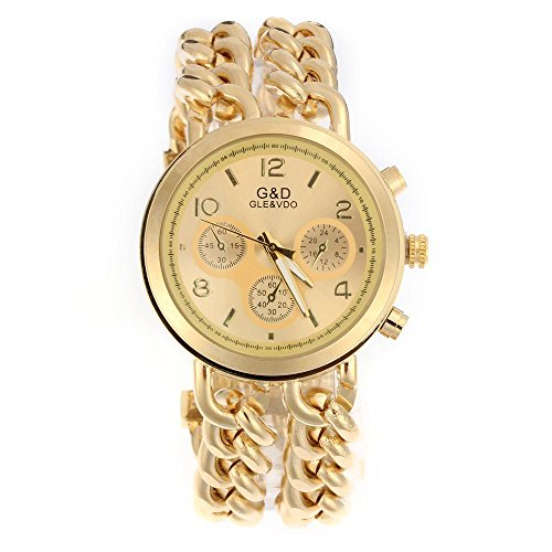 Easy Provider Mujer Mode Reloj Reloj de Pulsera Pulseras Reloj Cadena Pulsera Mujer Reloj Oro Colgante