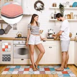 Pretigo Anti Fatigue Kitchen Rug Set 2 Piece Non Slip Cushioned Floor Comfort Mat Waterproof Comfort...