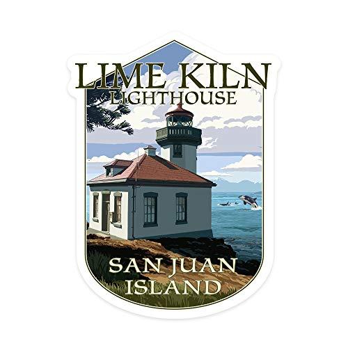 H421ld San Juan, Washington, Dia de la Isla de San Juan, escena del día del horno, contorno de vinilo para coche, camión, motocicleta, parachoques de pared, decoración de pared, interior/exterior