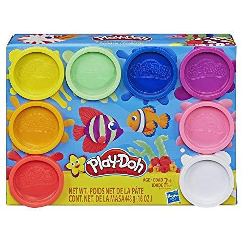 PlayDoh E5044EU4 8er Pack, Knete in Regenbogen Farben, für fantasievolles und kreatives Spielen, bunt