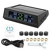 Rilevatore di Pressione Pneumatici, Monitor della Pressione dei Pneumatici a 6 sensori, Display LCD ad Alta Definizione per Pneumatici per autocarri Domestici