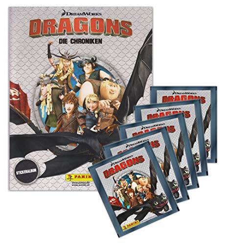 Dragons - Die Chroniken Panini Sammelset Album + 5 Booster Tütchen - 25 Sticker deutsche Ausgabe
