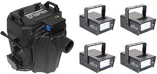 Chauvet Nimbus Dry Ice Low Lying Smoke Fog Machine + Mini Strobe 21 LED (4 Pack)