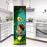 DEENLI Pegatinas Neveras, Hermosa Niña De Dibujos Animados,Etiqueta De Renovación De Refrigerador Viejo