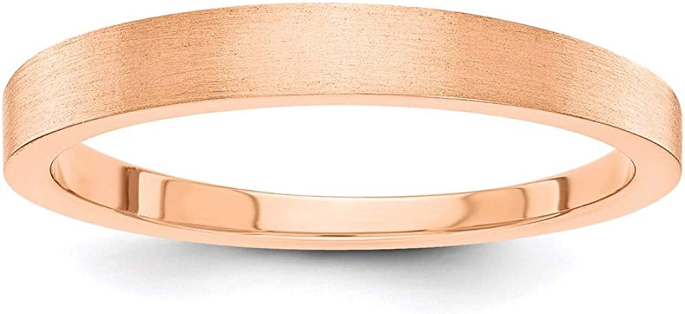 14k Rose Gold 3mm Tapered Wedding Ring Band Classic Fine Jewelry For Women Gifts For Her