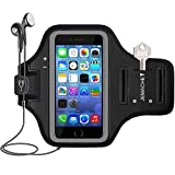 iPhone SE (2016) 5S 5 Armband, JEMACHE Gym Running Jogging Exercise Workout Sport Arm Band Case for...