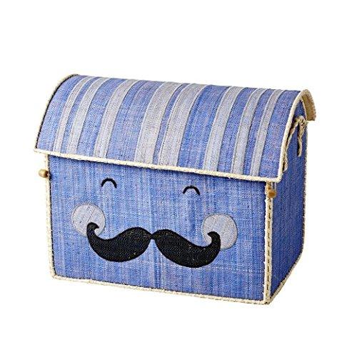 Medium Toy Korb in Soft blau mit Smiling Schnurrbart von Rice DK