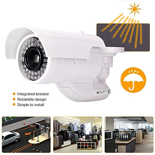 %9 OFF! Pangding Dummy Camera, Dummy Fake Security Camera Bullets Shape LED Simulation Surveillance ...