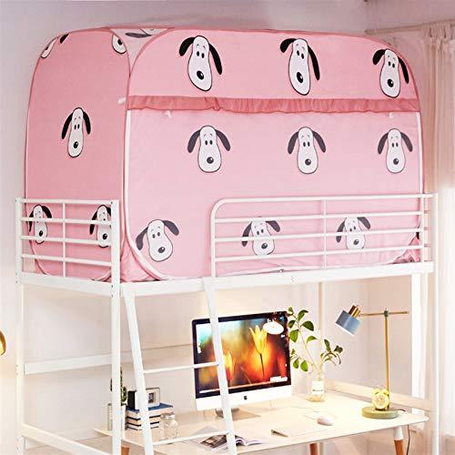 WWYYZ Tienda de privacidad para dormitorio de tres puertas, transpirable, a prueba de polvo, protección contra la sombra (rosa - perro)