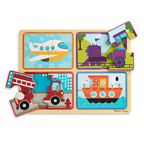Melissa & Doug Natural Play Wooden Puzzle: Ready, Set, Go