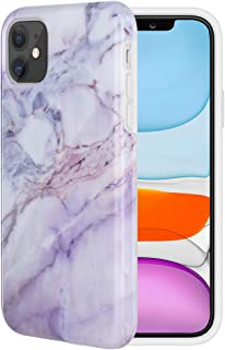 Caka Case for iPhone 11 Marble Case Pink Slim Protective Soft Flexible TPU Anti Scratch Shockproof Cute Fashion Soft Rubber TPU Luxury Girls Women Marble Case for iPhone 11 (6.1 inch) (Pink)