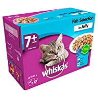 100% complete and balanced meal food pouch for older cats Contains nutritious and tasty salmon, tuna, coley and whitefish pieces With vitamin E and minerals to help support your cat's natural defences Added taurine to help maintain a healthy heart an...