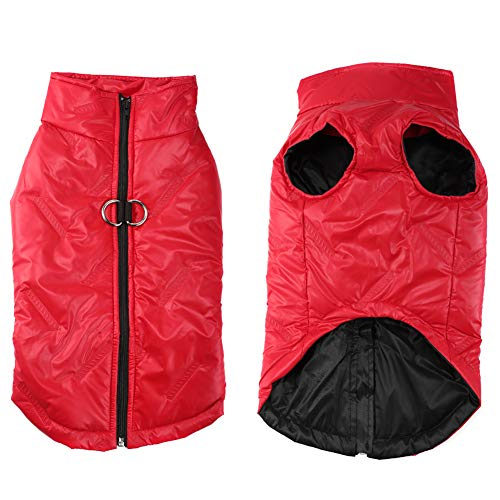 FEimaX Cappotto Impermeabile Invernale per Cani, Caldo Imbottito Giacca Antivento Cappottino del Cucciolo Vestiti Inverno per Cani di Taglia Piccola Media e Grande Cane Gilet
