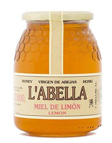 Zitronenblütenhonig aus Spanien - Zitronenhonig - Premium Qualität - Naturprodukt - kaltgeschleudert - fruchtiger Geschmack der Zitrusfrucht , Größe:1000 ml, Geschmack:Zitrone