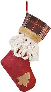 aloiness Medias de Navidad Calcetines de Navidad Chimenea para el Regalo del Bolso de azúcar decoración