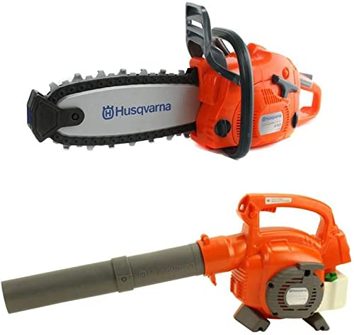 new arrival Husqvarna 125B Kids lowest Toy Battery Operated Leaf Blower 2021 & Chainsaw Pretend Play Set online sale