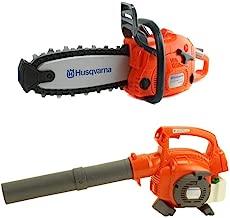 Husqvarna 125B Kids Toy Battery Operated Leaf Blower & Chainsaw Pretend Play Set