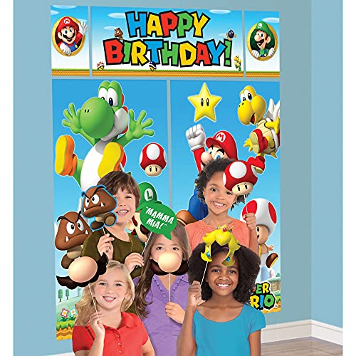 Super Mario Brothers Scene Setters Wall Decorating Kit