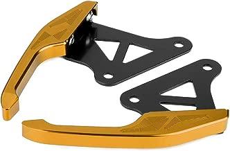 Passenger Rear Grab, Universal Aluminum Motorcycle Pillion Passenger Grab Bar Rear Seat Rail Handle Kit(Gold)