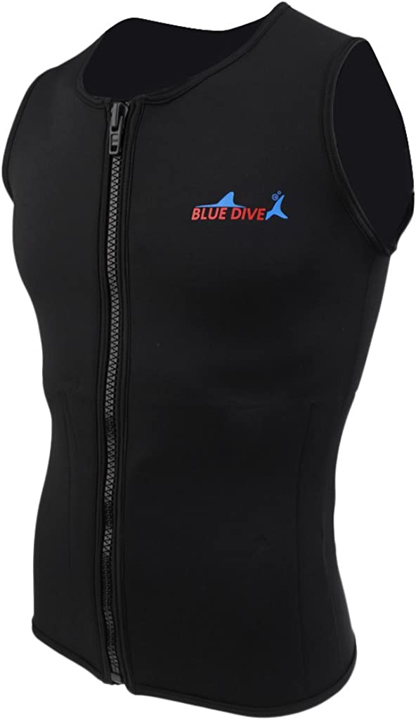 MagiDeal Recommendation Black Men Women 2mm Neoprene Wetsuit New product!! Top Shirt Jac Vest