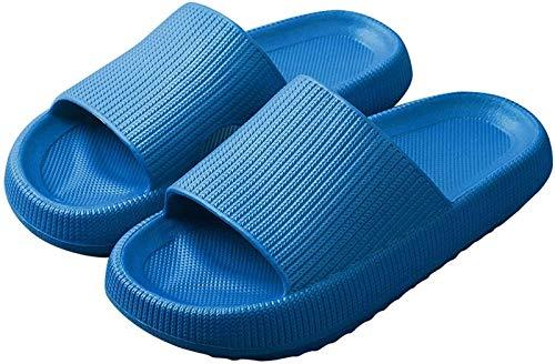CFPAGF Pantuflas de almohada, espuma de masaje, zapatillas de baño súper suaves, suela gruesa, antideslizante, secado rápido, última tecnología, zapatos de playa para mujeres y hombres (azul, 41-42)