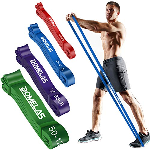 DOMELAS Workout Stretching Band Set, Long Pull Up Assistance Band, Heavy Duty Resistance Band for Powerlifting, Resistance Training, Exercise Band for Men & Women