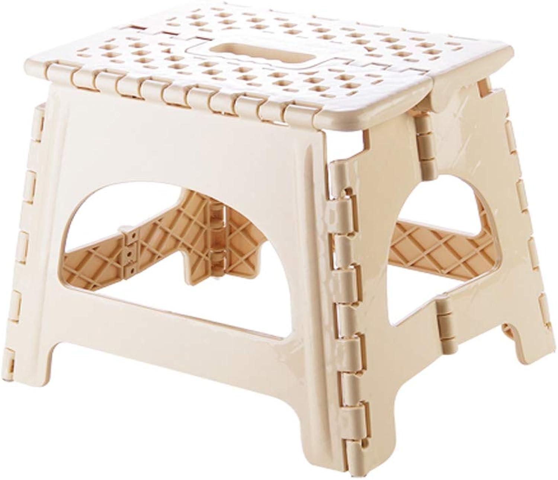 Plastic Folding Step Stool - Lightweight Sturdy Collapsible Step Stool (2018 for Kids,Kitchen, Bedroom,Bathroom (Khaki, Large)