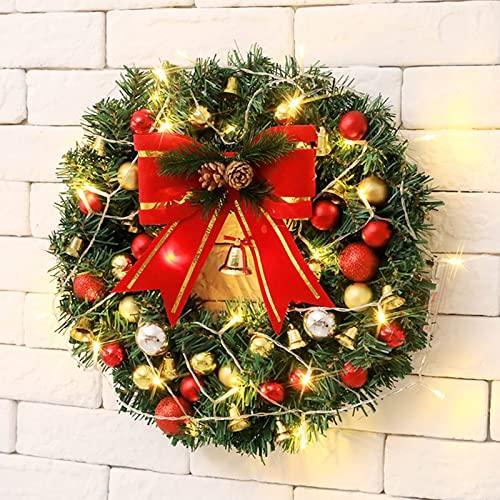 Jingyu Decoración guirnalNavidad Artificial Decoración guirnalNavidad Guirnalartificial Decoración guirnalartificial Navidad Fiestas Fiestas Puertas Halloween Decoración navideña