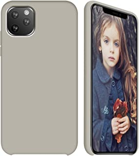 GKK CASE - for iPhone 11 /iPhone 11 Pro/iPhone 11 Pro Max Case- Liquid Silicone Cover + Soft Flannel Lining + Comfortable Touch (Rock Gray, 5.8)