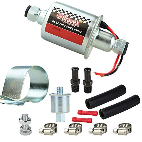 Electric Fuel Pump E8012S Universal Low Pressure 5-9 PSI 12V Inline Fuel Pump with Installation Kit