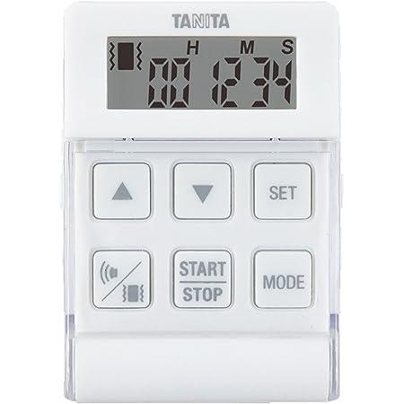 タニタ タイマー 勉強 ストラップ付き バイブレーション機能 24時間 ホワイト TD-370N WH