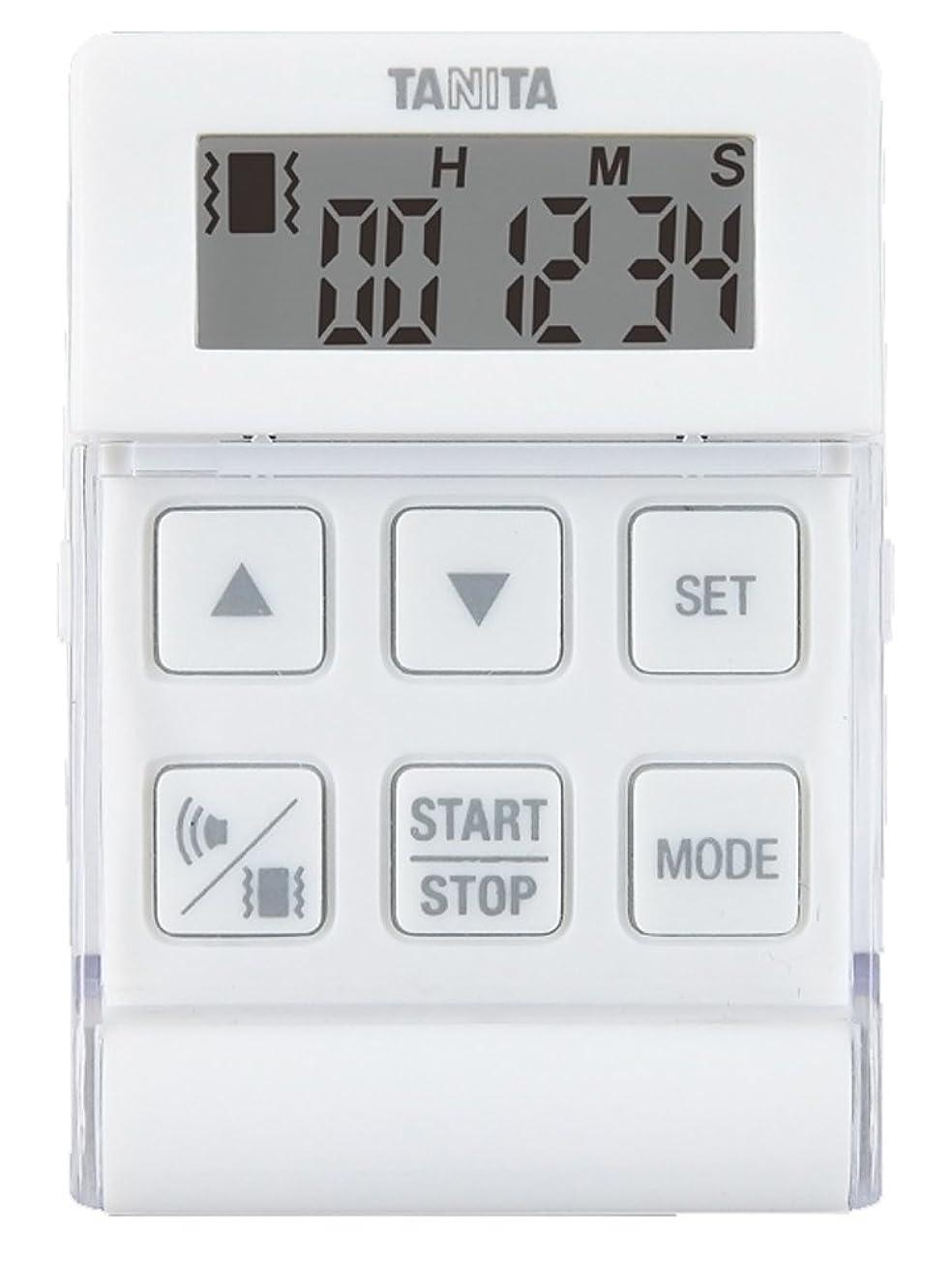デジタルカリング寝室を掃除するタニタ タイマー バイブレーション 24時間 ホワイト TD-370N NWH