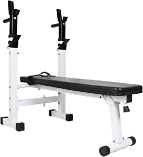 Adjustable Benches Folding Weight Table Multifunctional Bench Press Folding Squat Rack Home Fitness Equipment Benches (Color : Black, Size : 11029.5190cm)