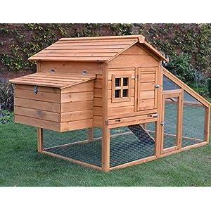 FeelGoodUK Hühnerstall mit Dach zum vollständigen Öffnen und Reinigungseinsatz und innovativen Schließmechanismus (NCH10…