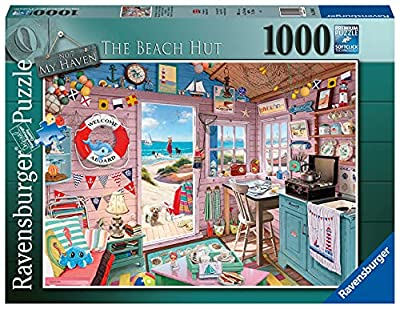Ravensburger My Beach Hut, My Haven 1000 Piece Jigsaw Puzzle for Adults - Every Piece is Unique, Softclick Technology Means Pieces Fit Together Perfectly by Ravensburger
