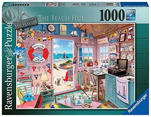 Ravensburger Puzzle 1000 Piezas, La Cabaña de laPlaya, Colección Fantasy, Rompecabezas Ravensburger de Alta Calidad, Jigsaw Puzzle para Adultos
