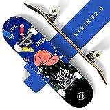 VIKING2.0® Skateboard für Kinder & Erwachsene | Skateboard mit...