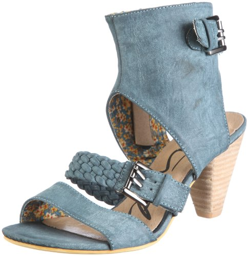 Piu di Servas Gwendolin S0155-03, Damen, Sandalen/Fashion-Sandalen, Blau (petrol 03), EU 38